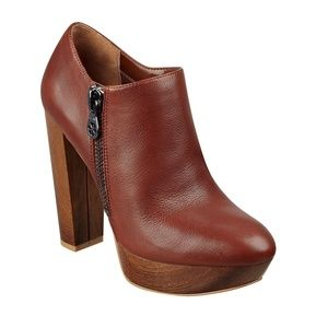 GUESS Leather Platform Booties